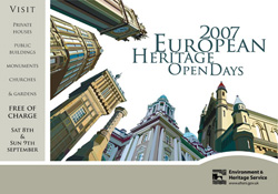 front cover of the 2007 european heritage open day