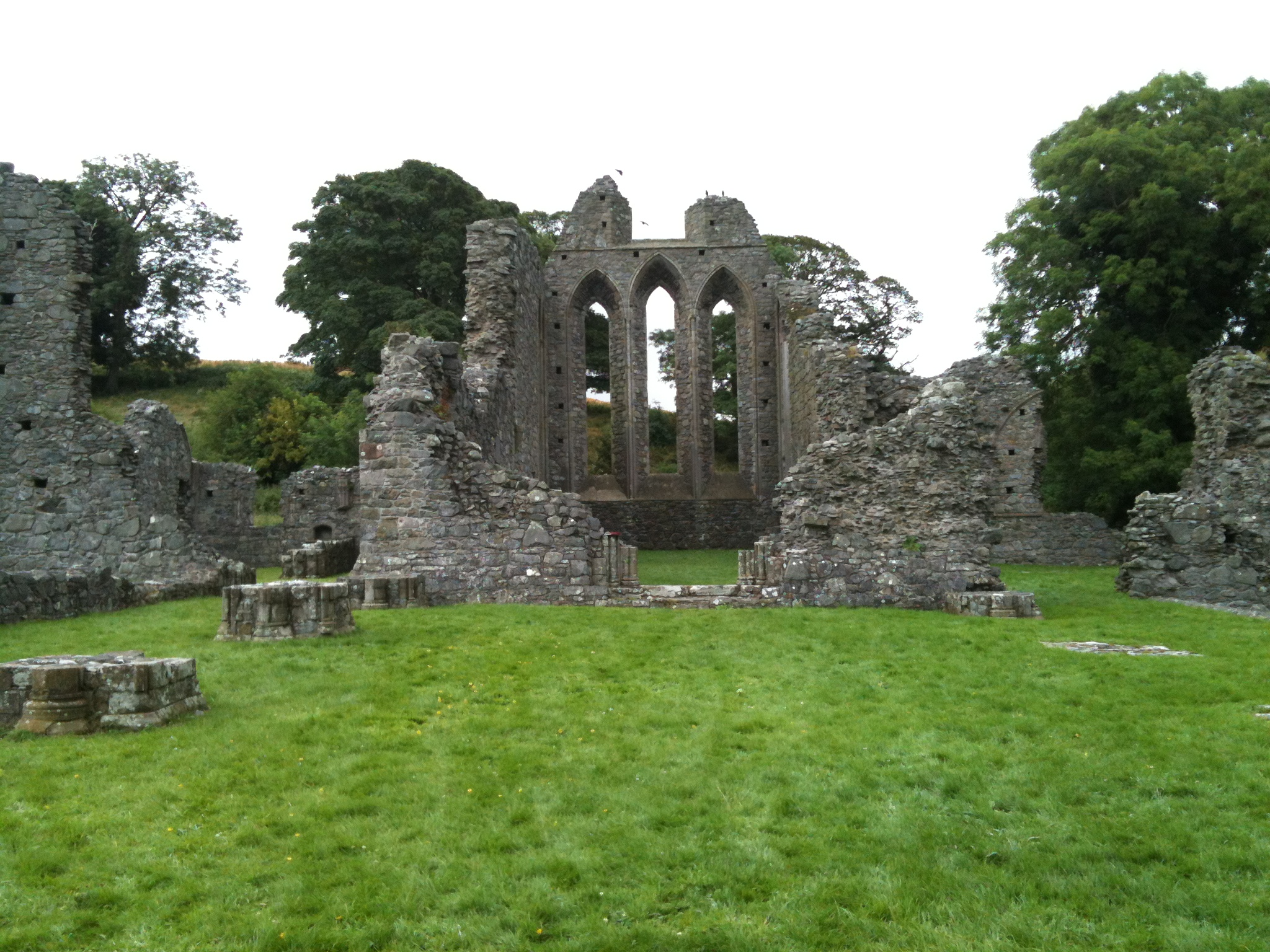 Ruins of Inch Abbey in Ireland